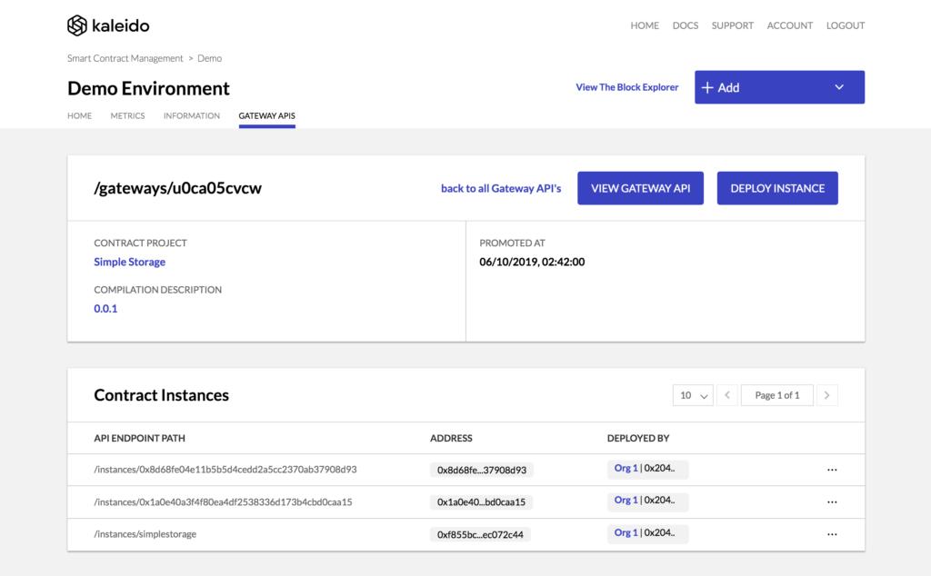 Kaleido Smart Contract Management - Transaction Analyzer Detected Instances