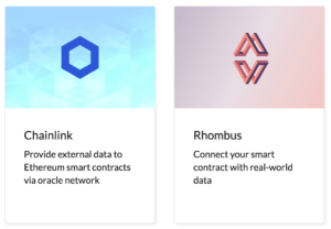 blockchain oracles and data feeds