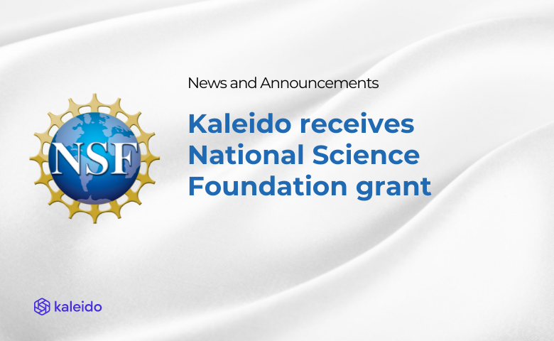 National Science Foundation awards grant to Kaleido for blockchain research