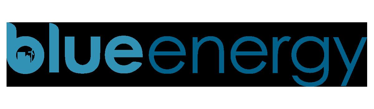 Blue energy logo turkis blå