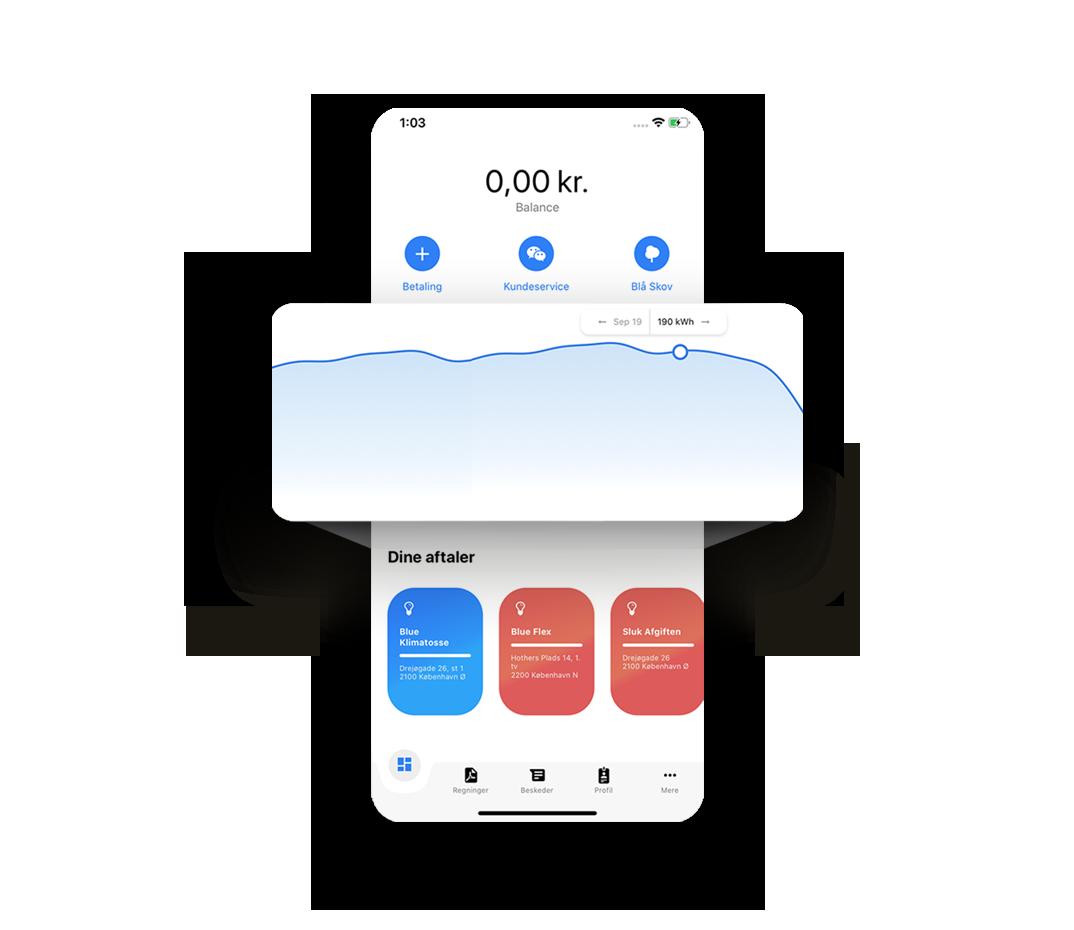 smartphone viser appens funktioner