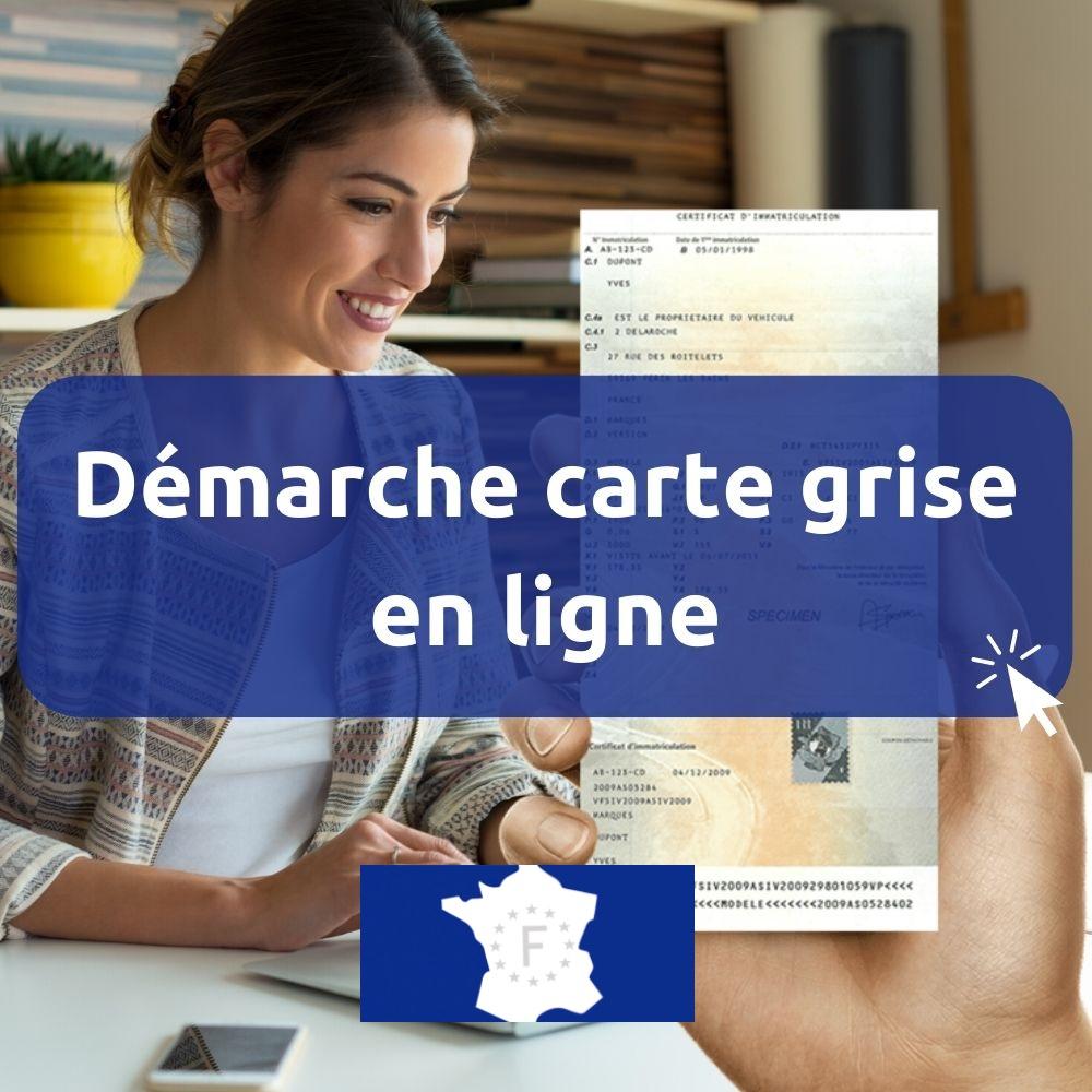 démarches carte grise certificat immatriculation en ligne