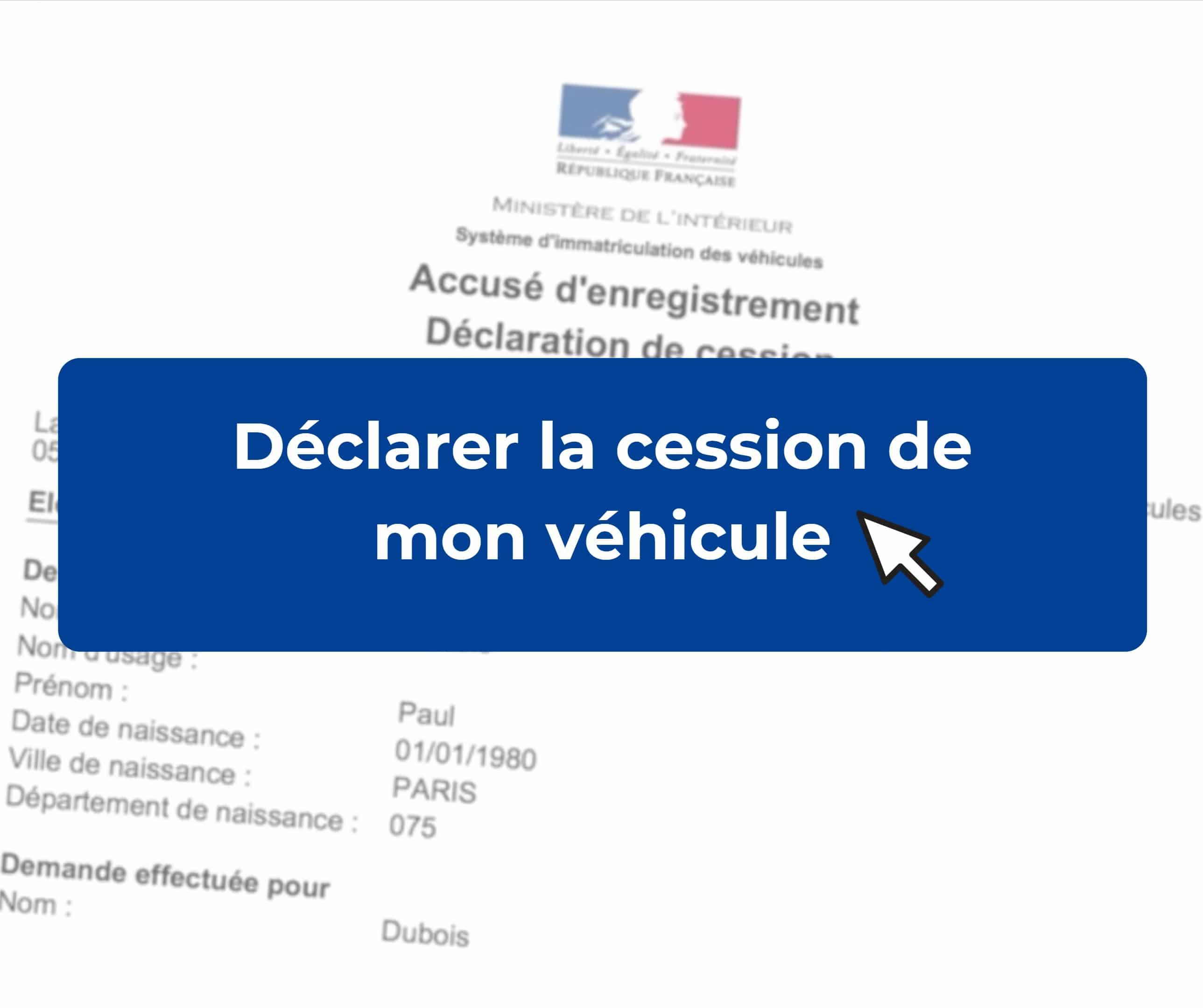 declaration de cession