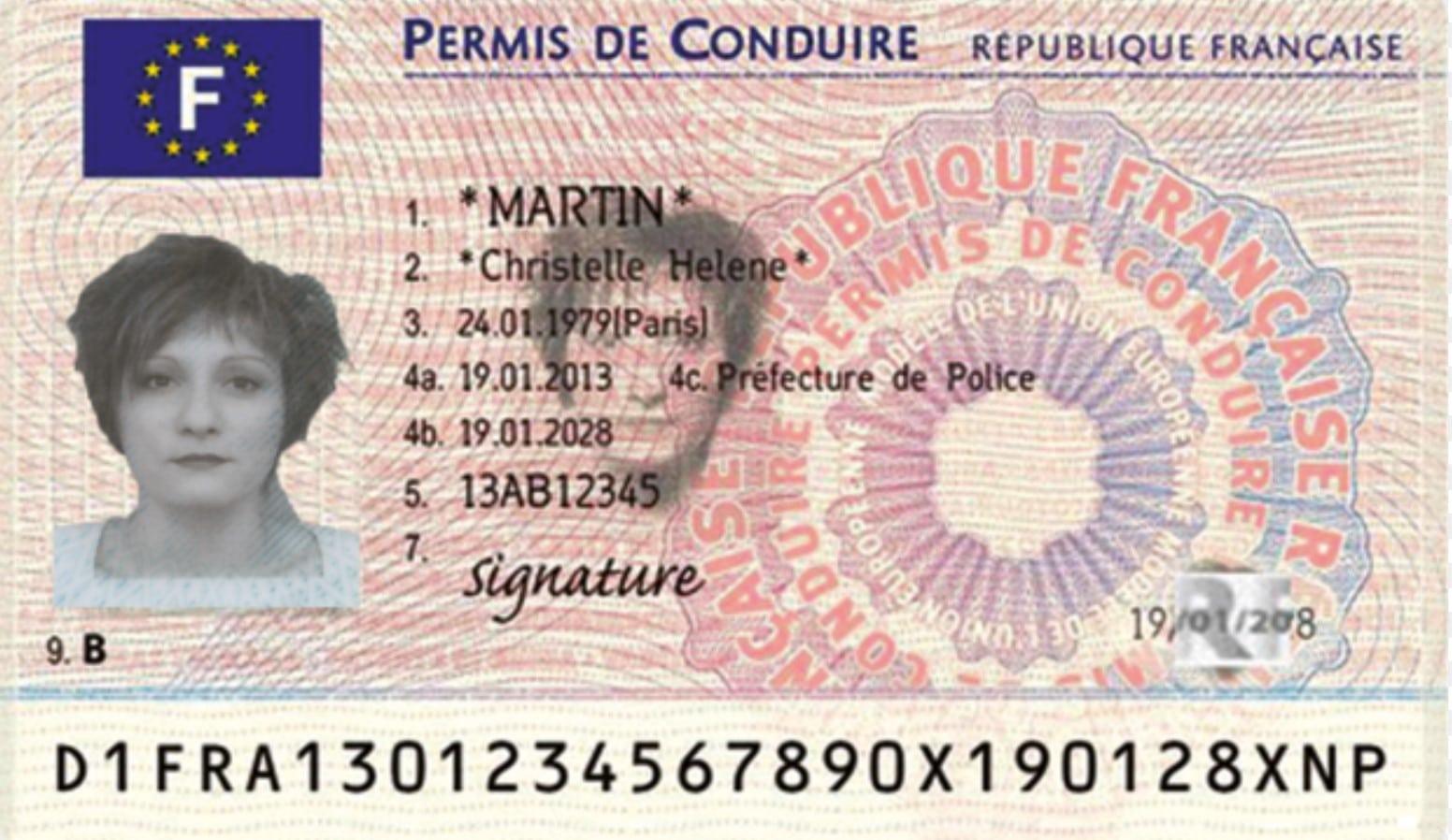 permis de conduire carte grise