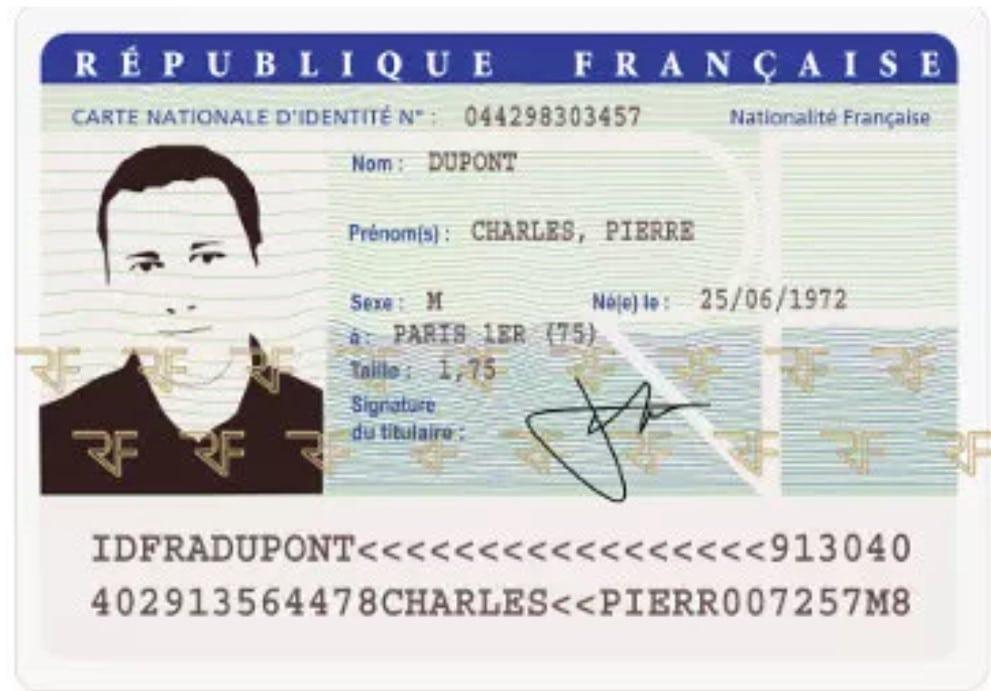 carte d'identité carte grise