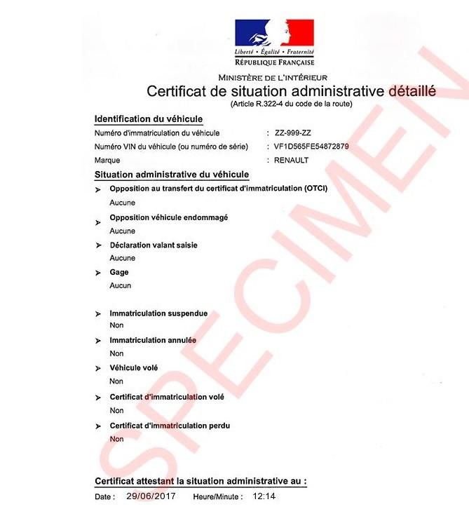 certificat de situationadministrative