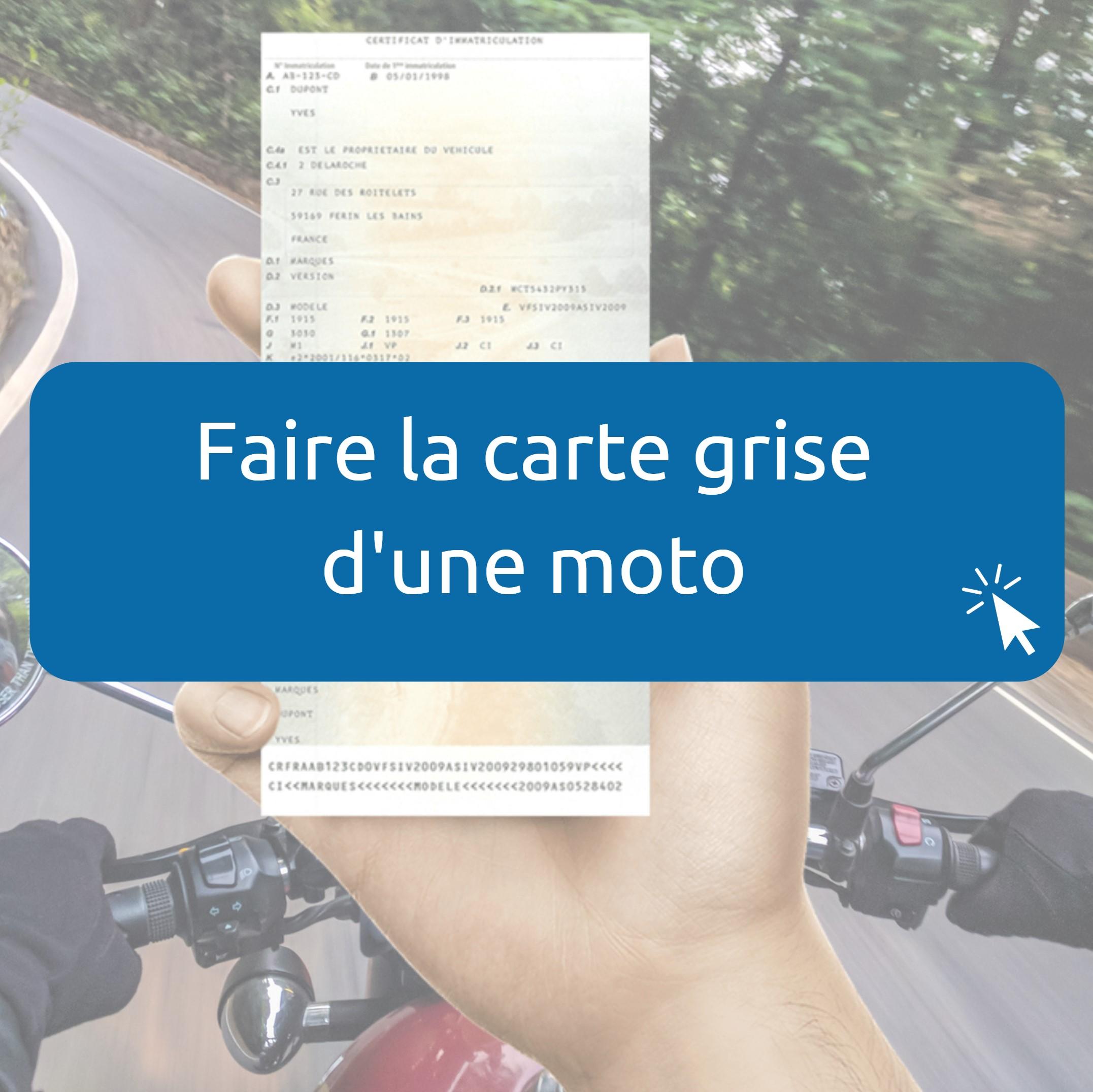 Changement Carte Grise Moto En Ligne