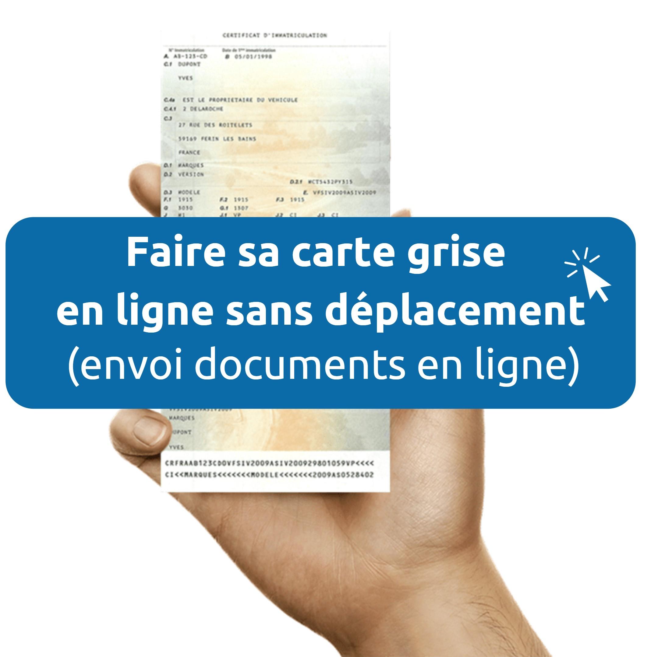 Documents pour carte grise