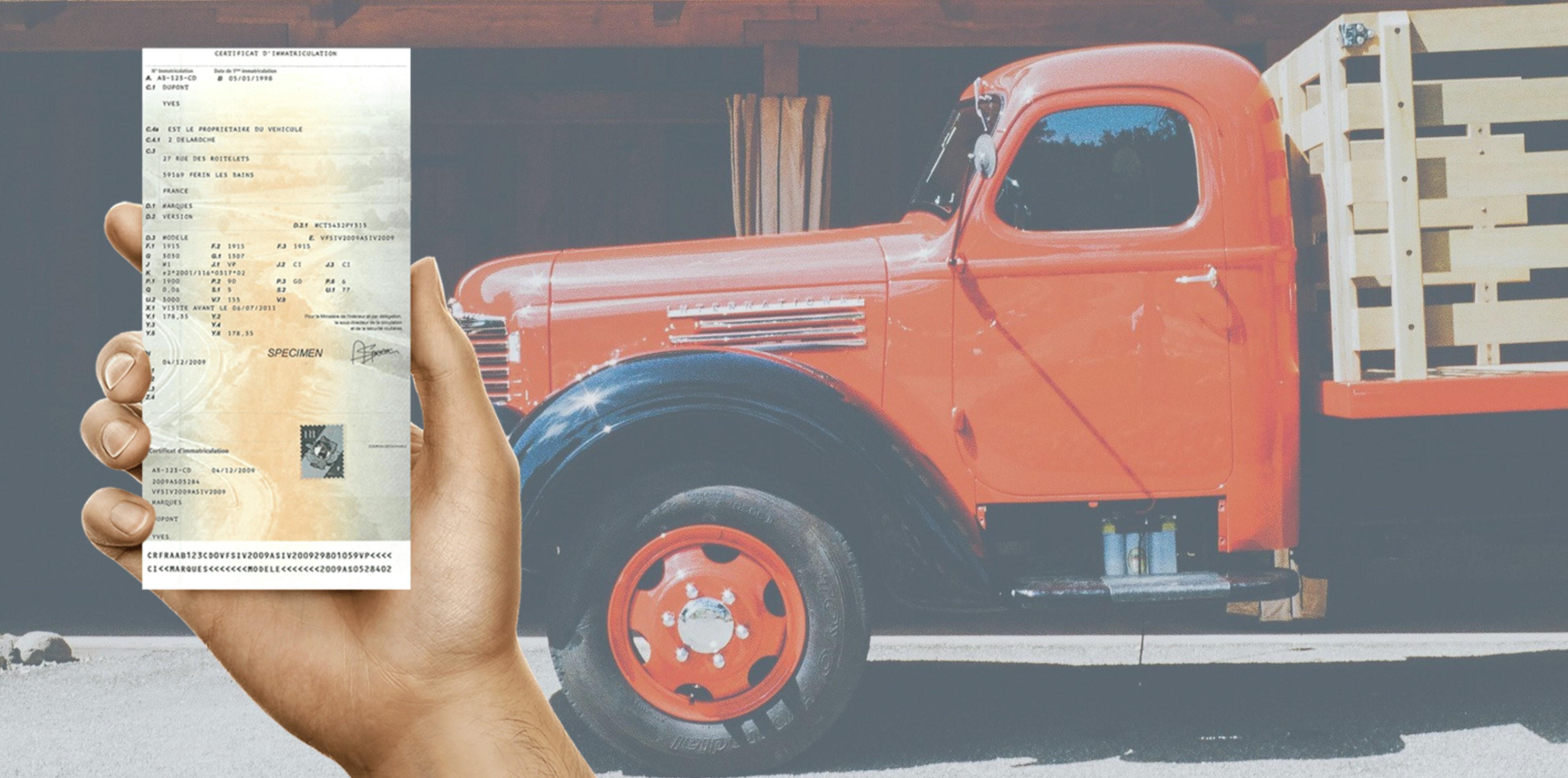 Duplicata carte grise camion