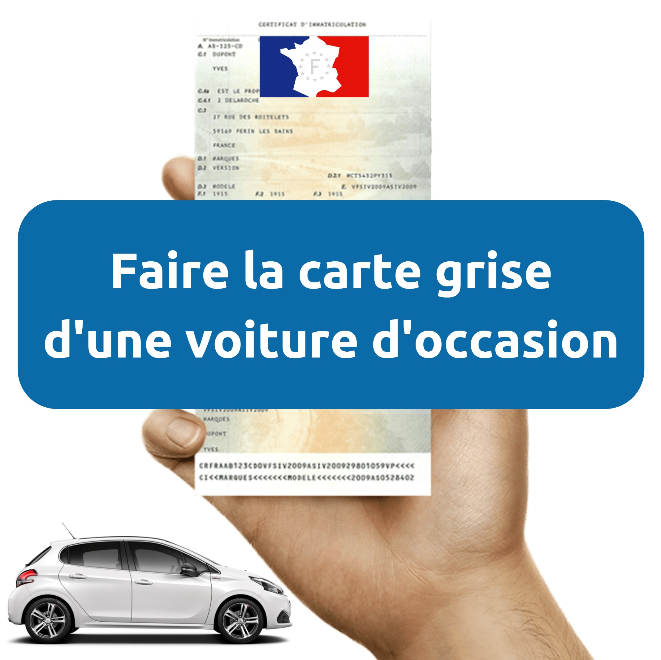 Documents carte grise voiture occasion pour association