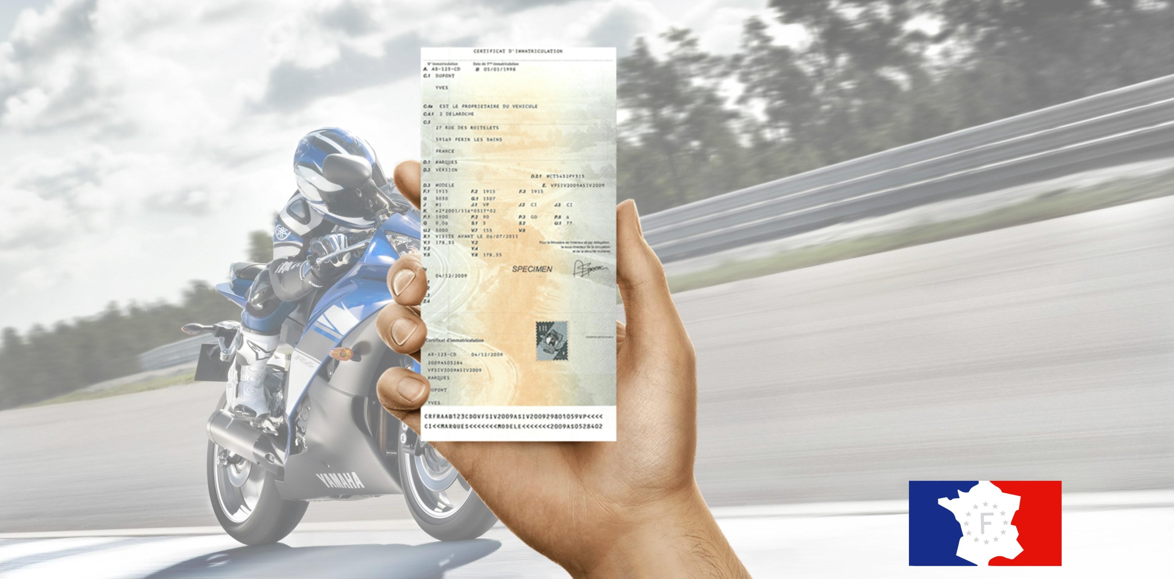 Changement carte grise moto