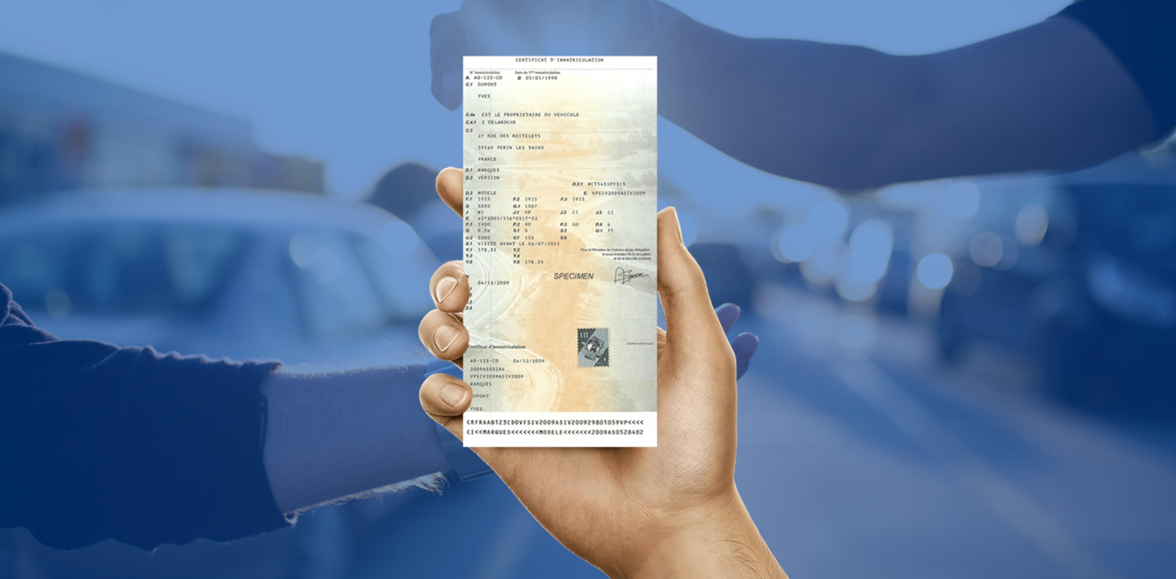 Changement titulaire carte grise