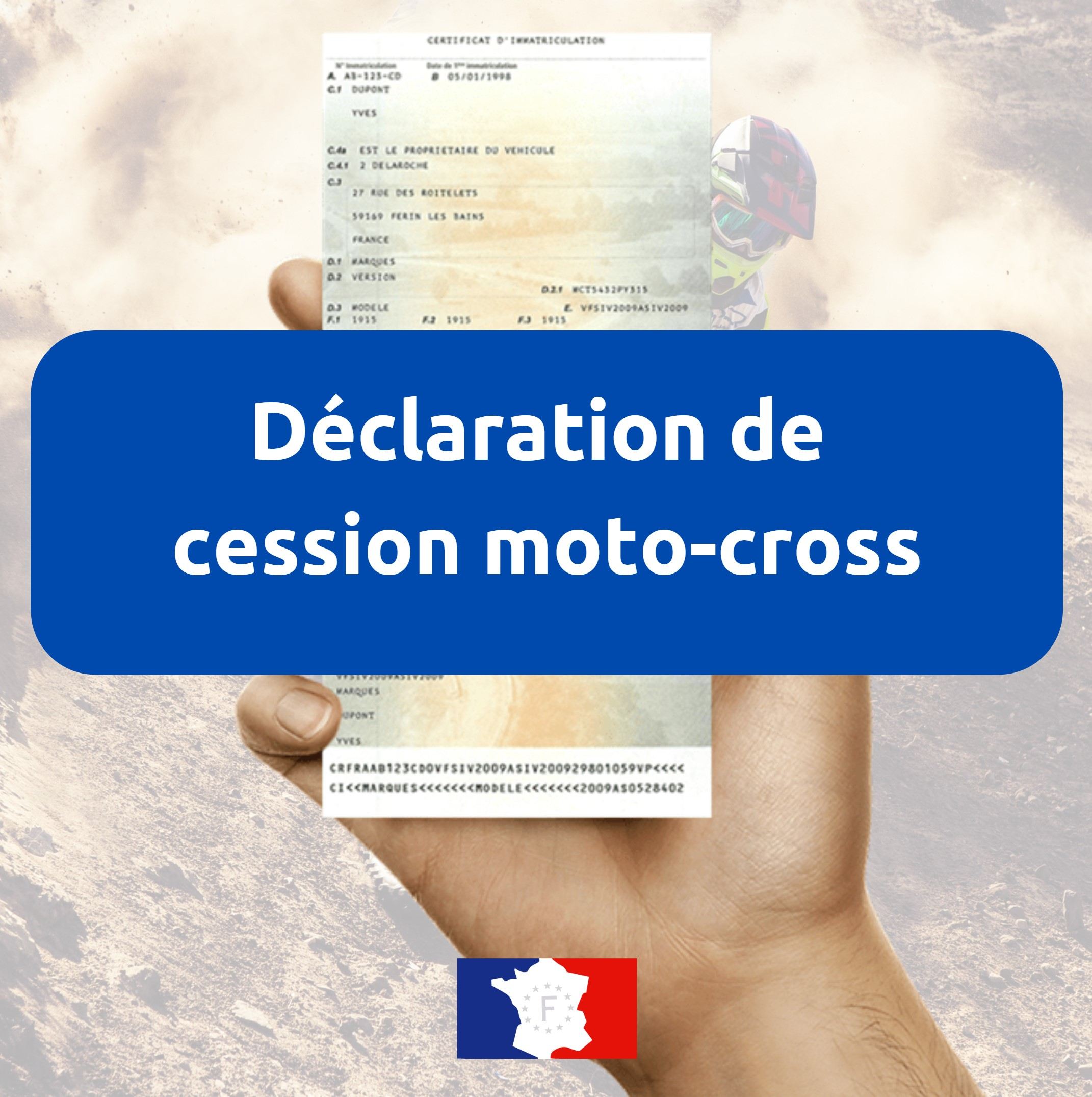 Déclaration de cession moto-cross
