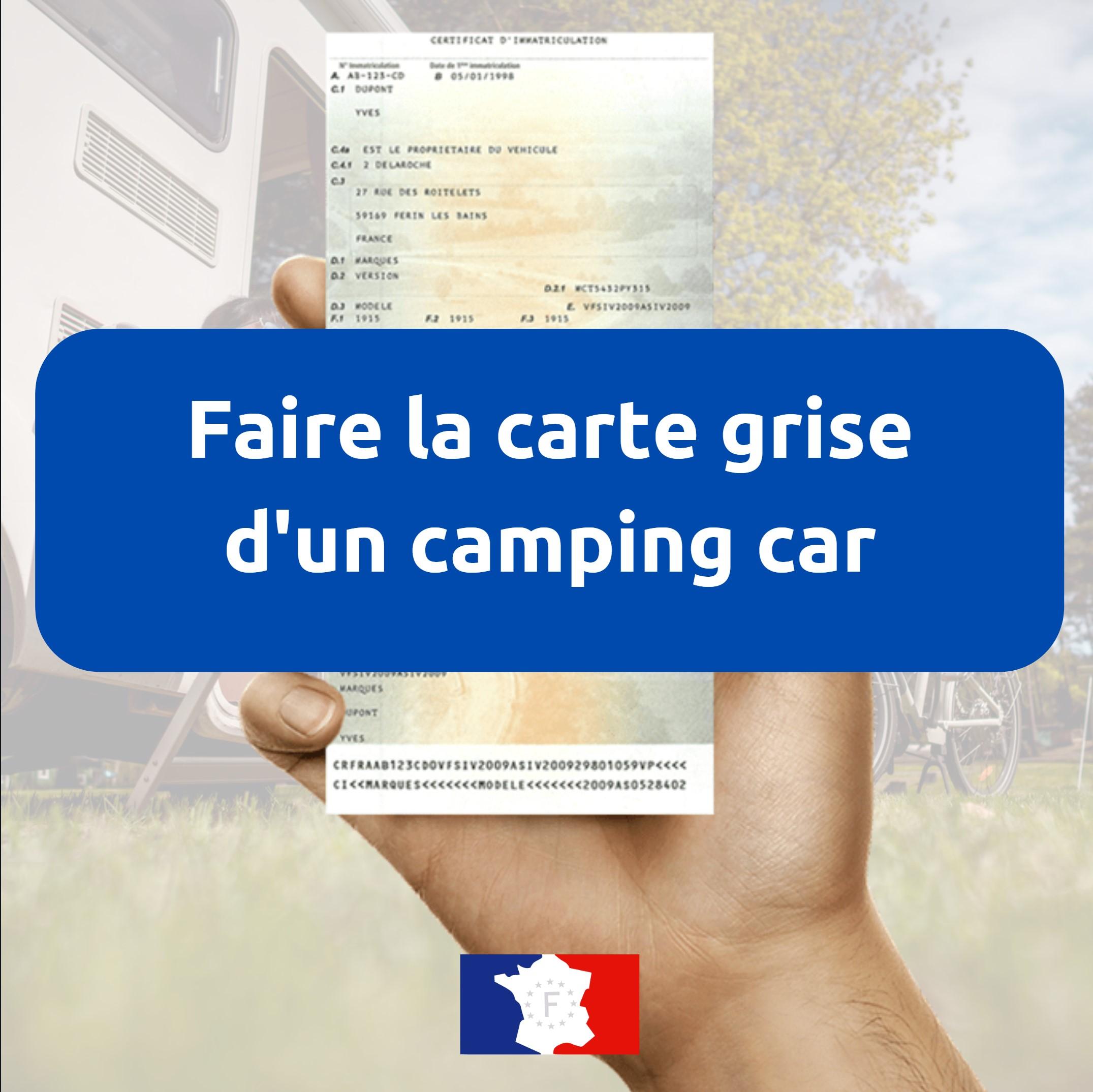 Carte grise camping car