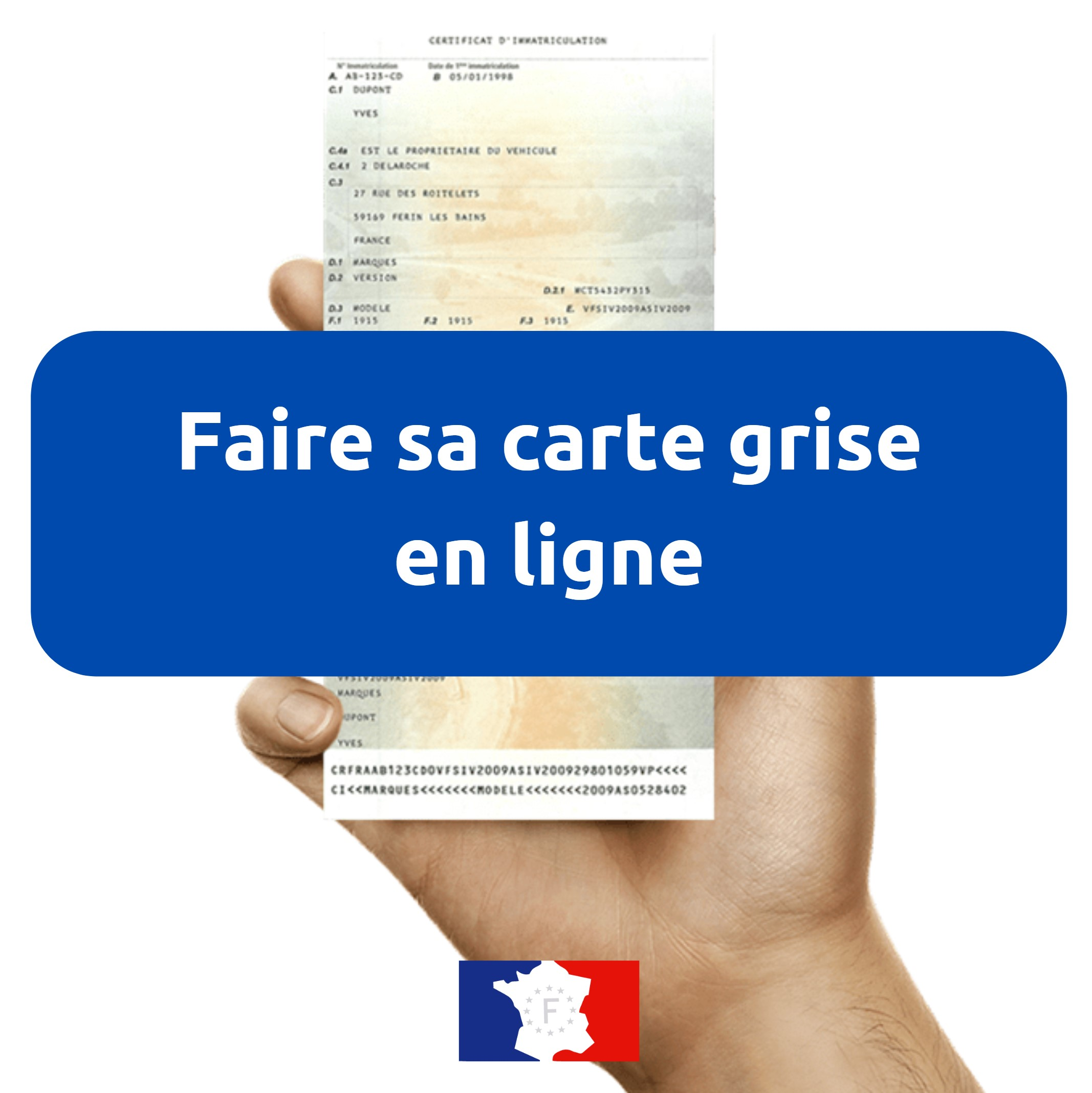 Que faire du coupon détachable d'une carte grise ?