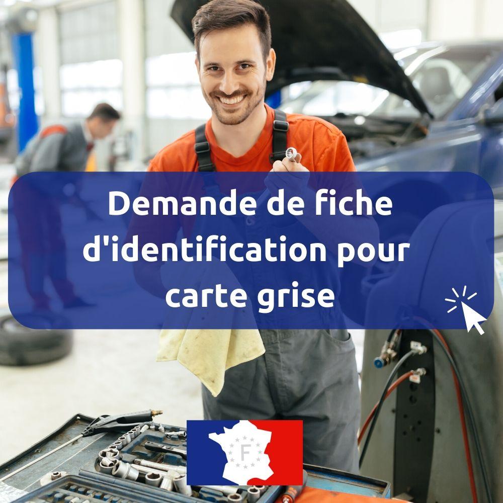 fiche identification vehicule pour carte grise