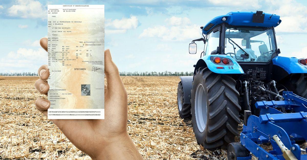 changement adresse carte grise tracteur