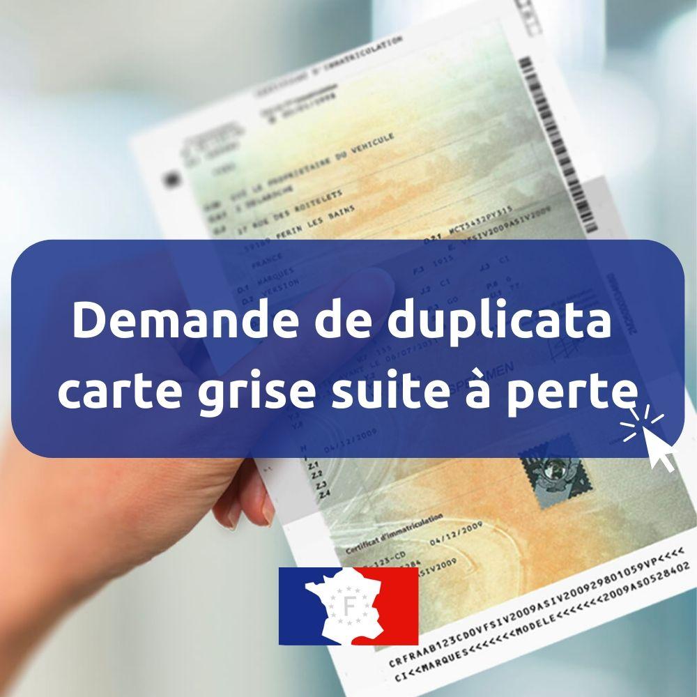 Perte carte grise ANTS Agence nationale des titres sécurisés