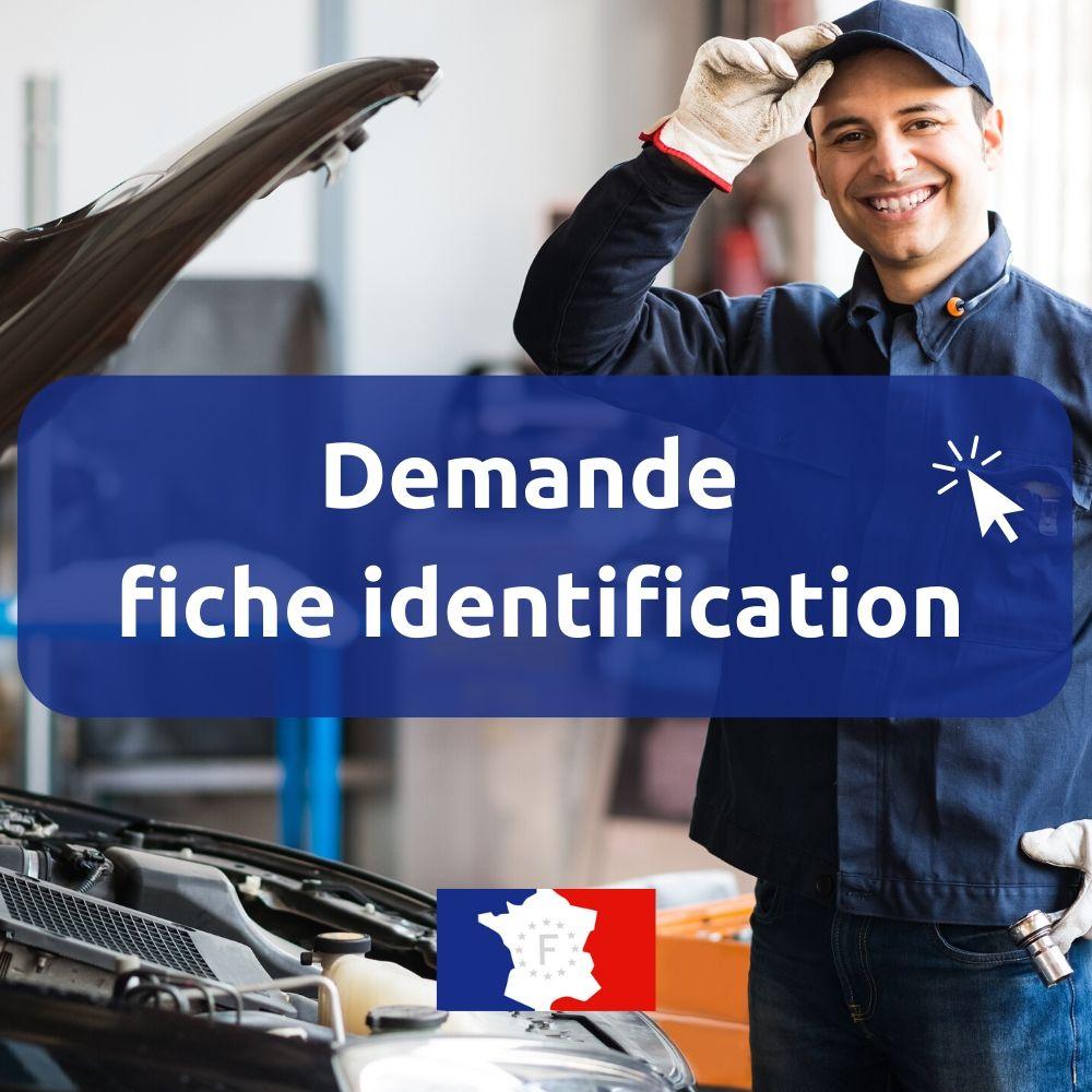 Fiche identification véhicule