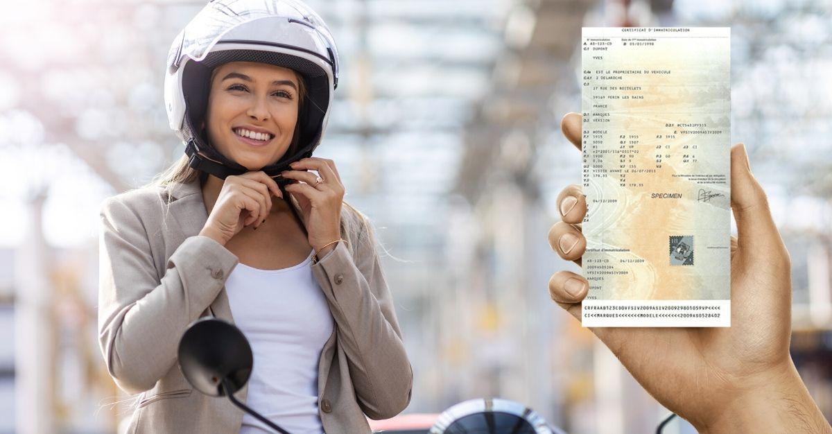 Changement carte grise pour scooter 50cc et/ou cyclomoteur