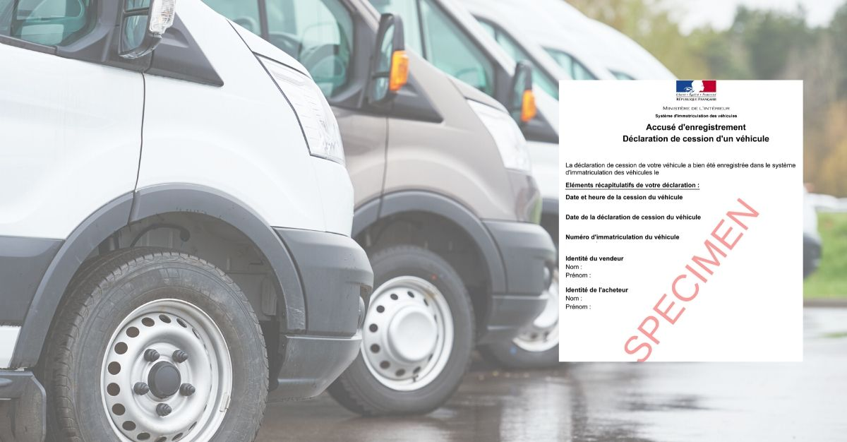declaration de cession vehicule societe