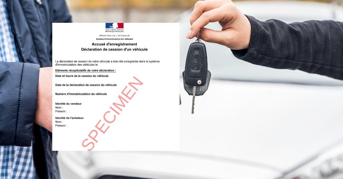 accusé d'enregistrement de vente de véhicule