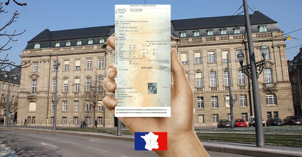 certificat immatriculation prefecture strasbourg