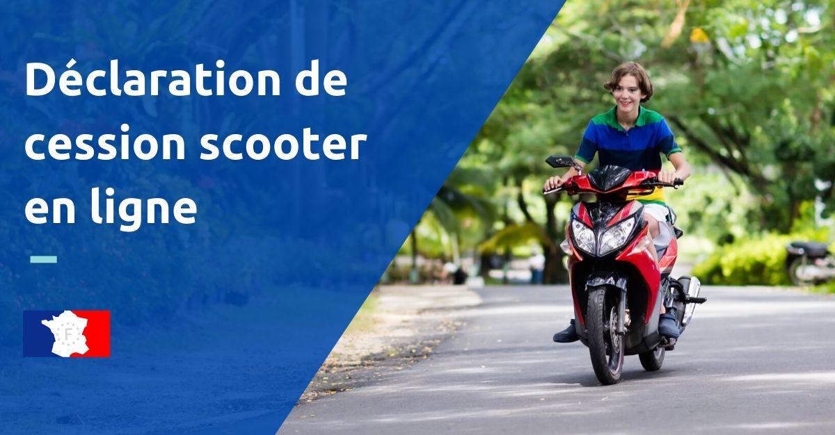 déclaration de cession d'un scooter en ligne