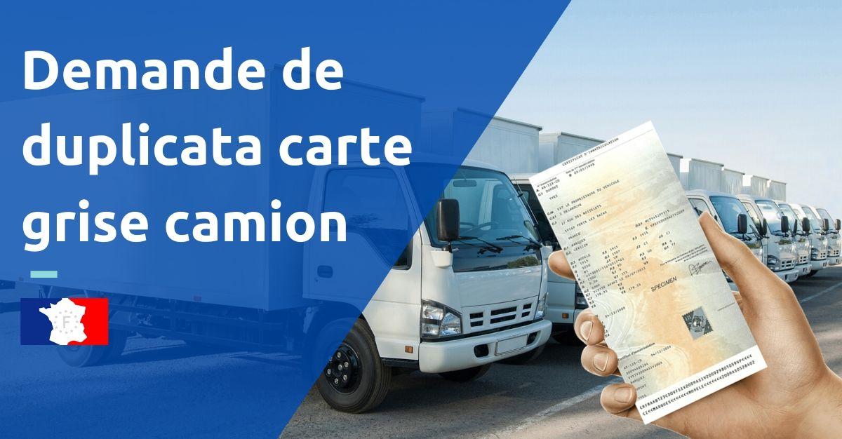 demande duplicata carte grise camion