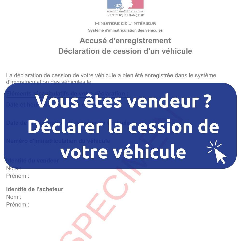 Certificat de cession ANTS