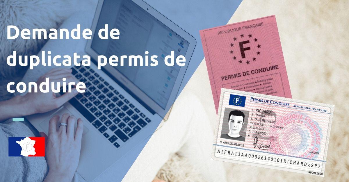 demande de duplicata permis de conduire