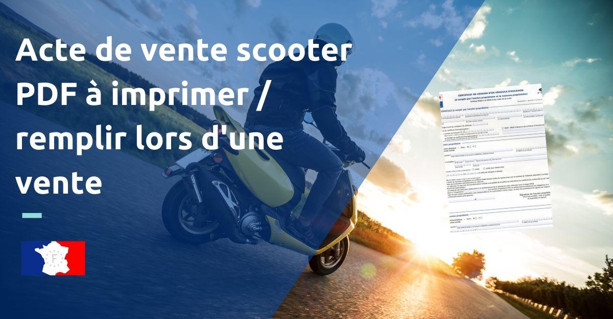 acte de vente scooter