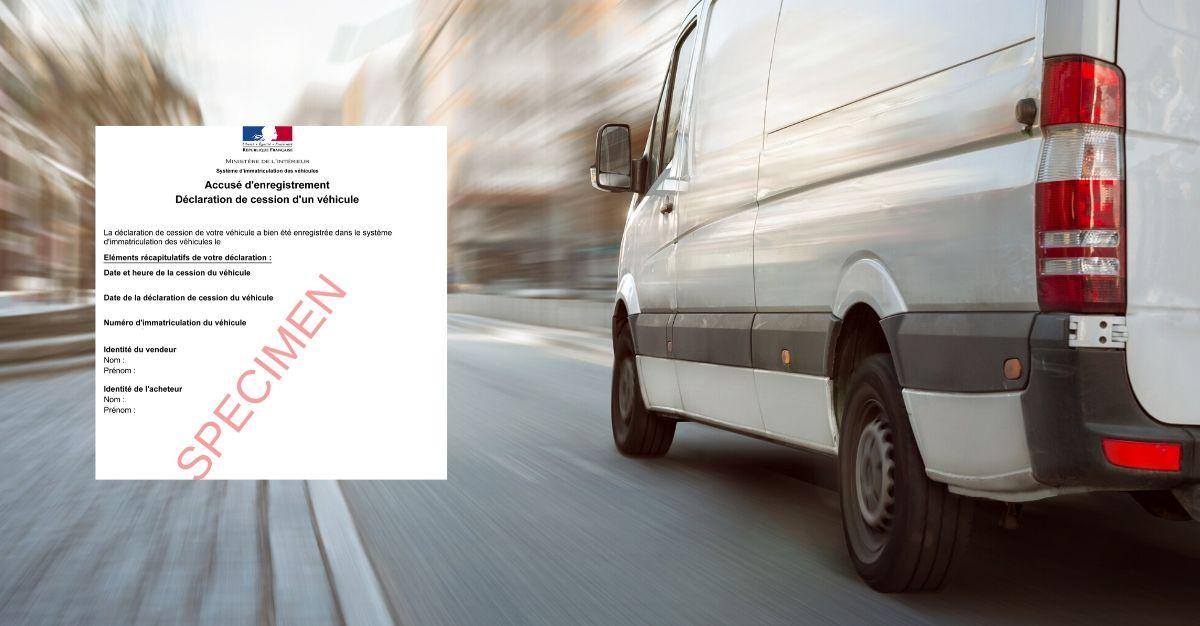 Déclaration de cession d'un camion et/ou camionnette