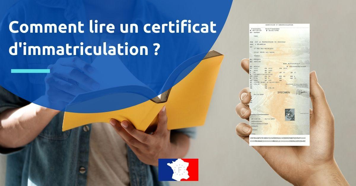 lire un certificat d'immatriculation