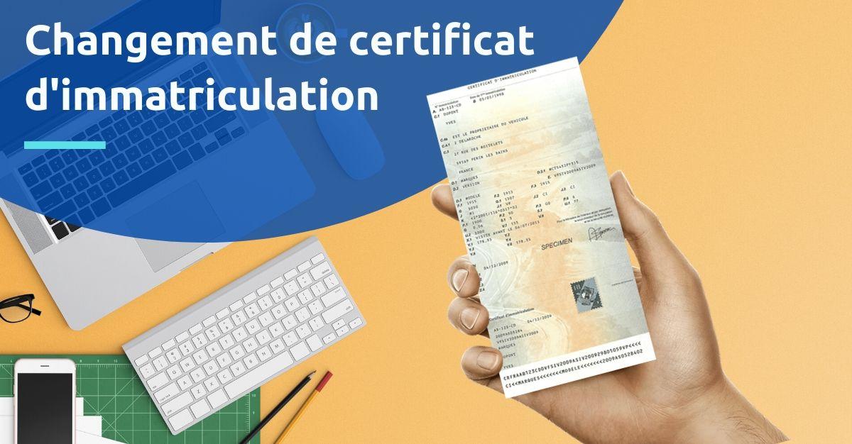 changement certificat d'immatriculation