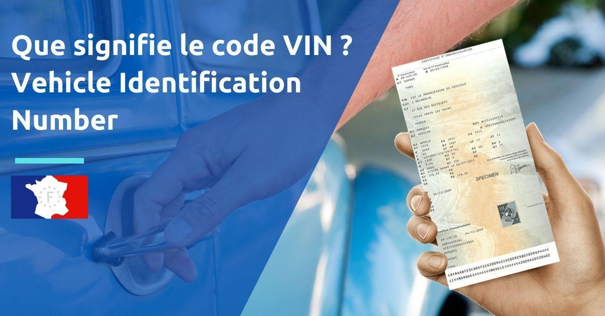 code VIN Vehicle Identification Number