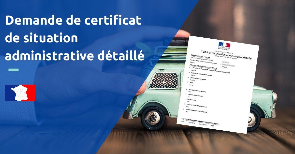 demande certificat de situation administrative détaillé