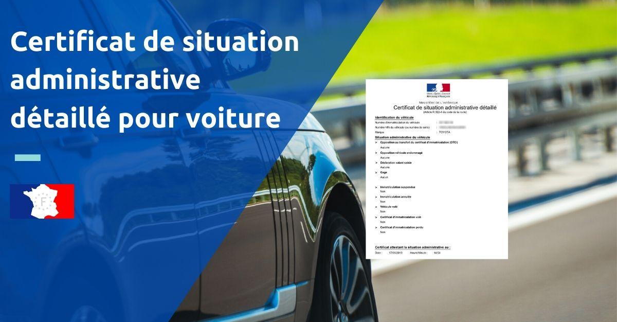 formulaire certificat de situation administrative voiture