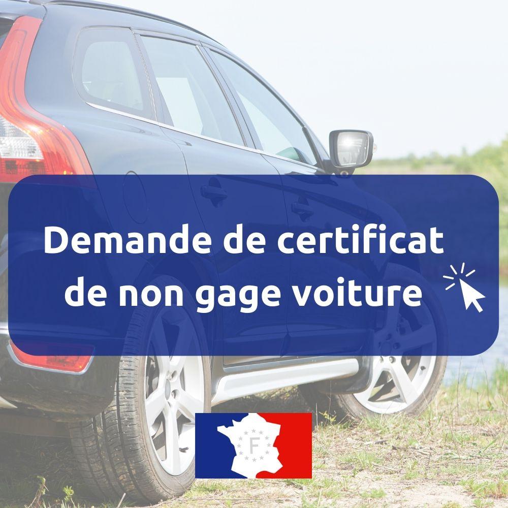 Certificat de non gage voiture / auto