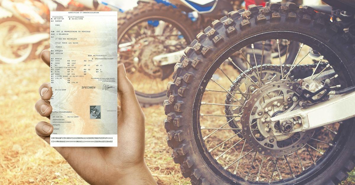 Changement carte grise moto-cross
