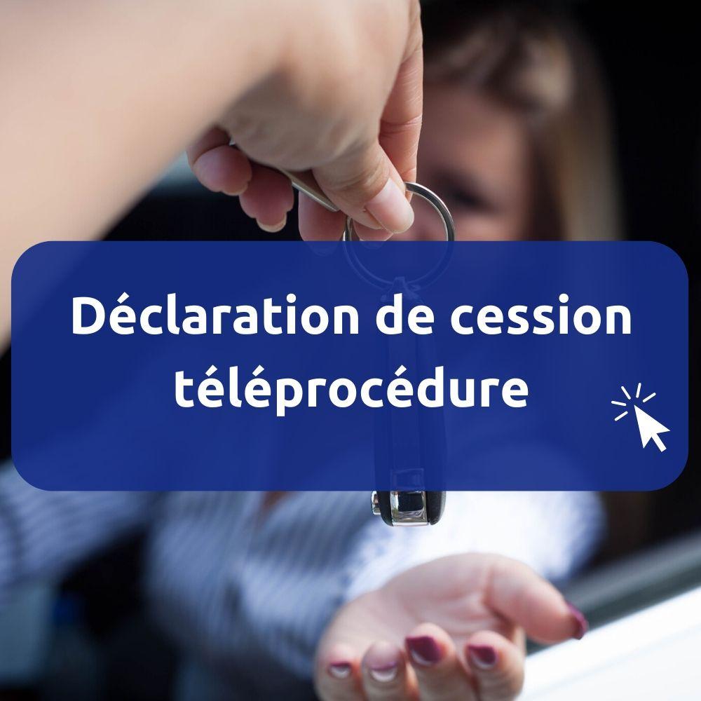 Déclaration de cession teleprocedure