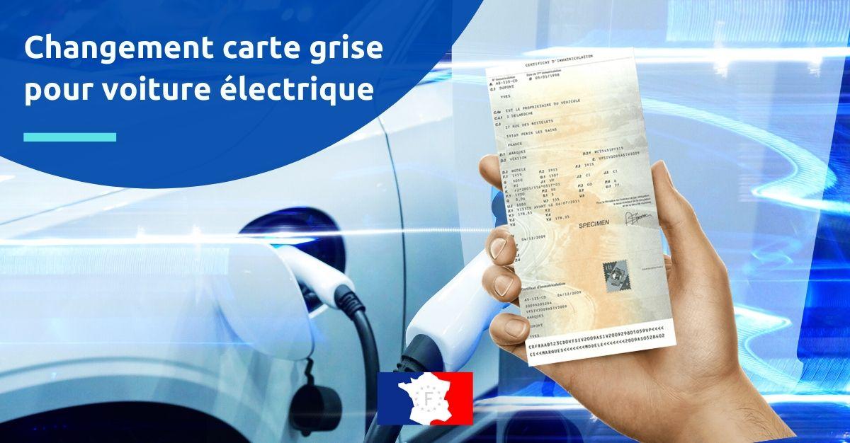 changement carte grise pour voiture électrique