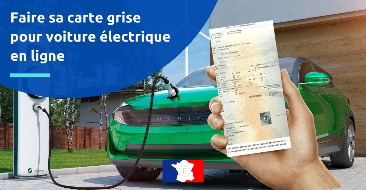 faire carte grise voiture électrique en ligne