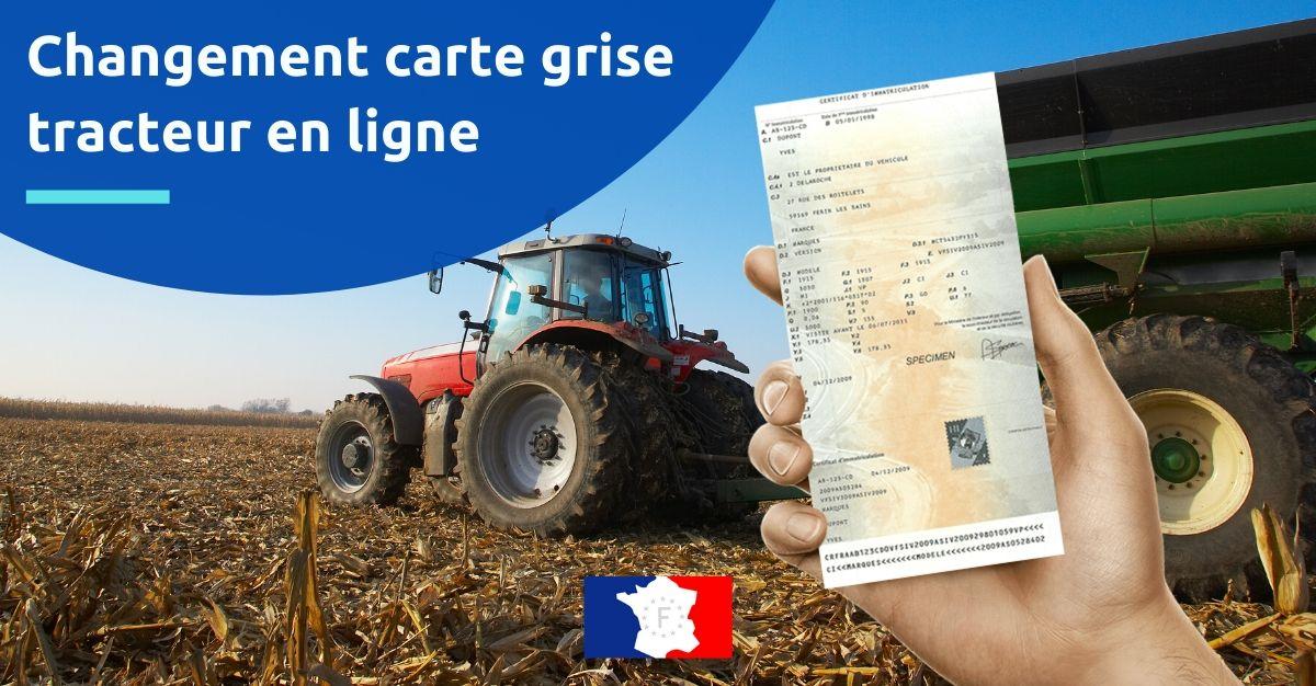 changement carte grise tracteur en ligne