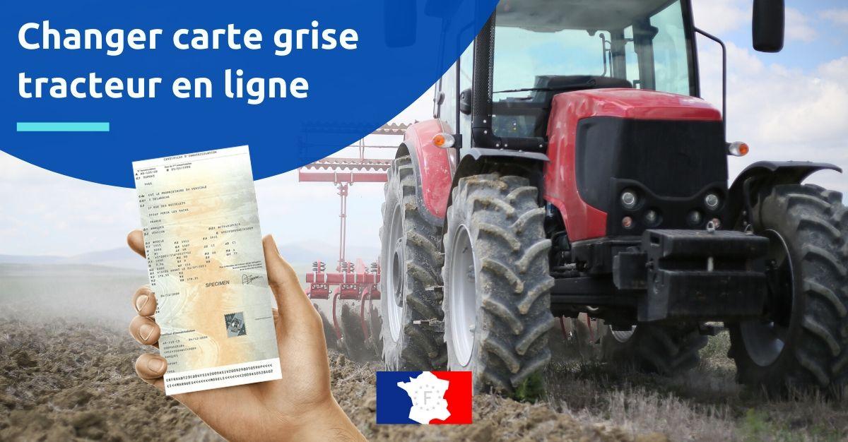 changer carte grise tracteur en ligne