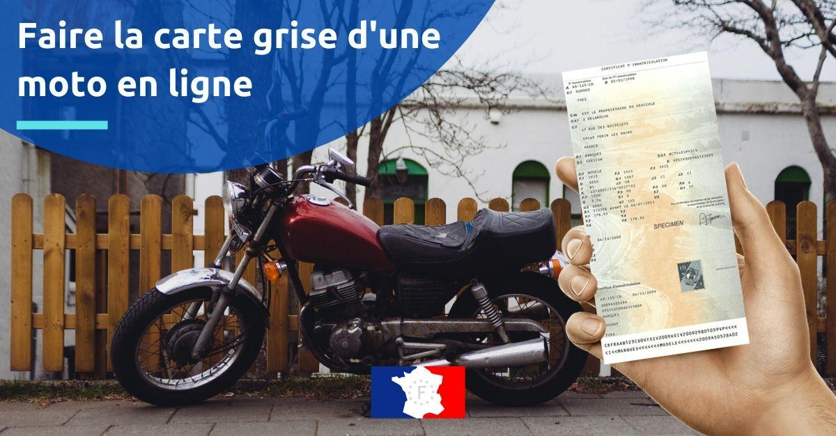 faire la carte grise d'une moto en ligne