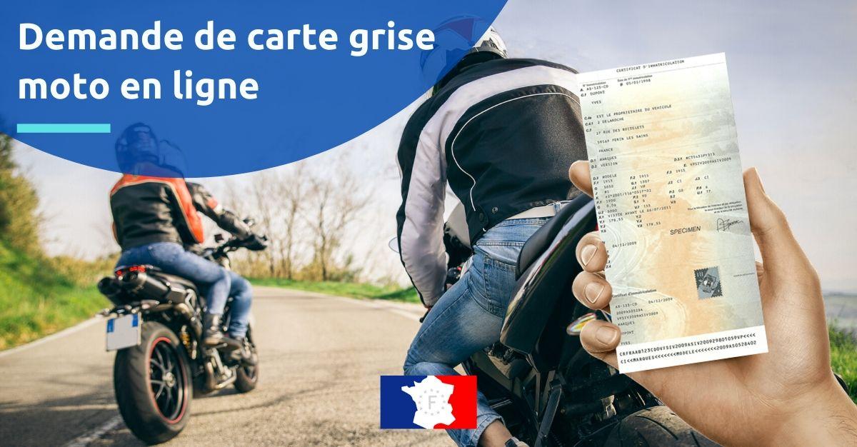 demande carte grise moto en ligne