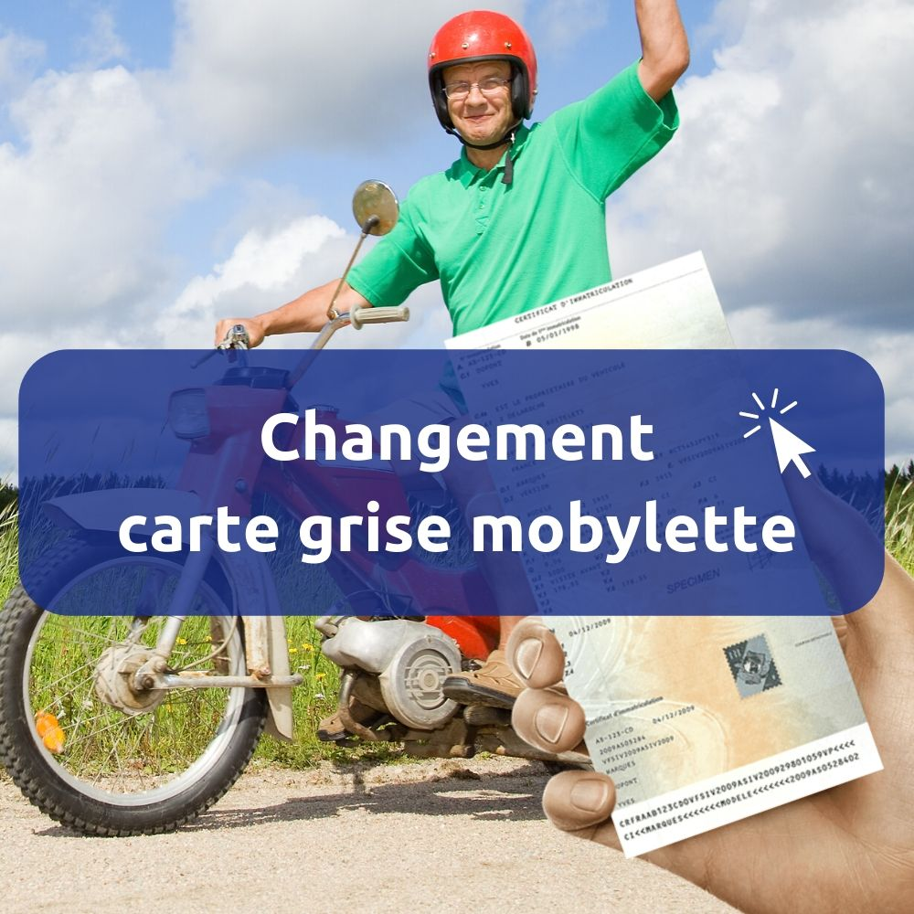 Changement carte grise mobylette