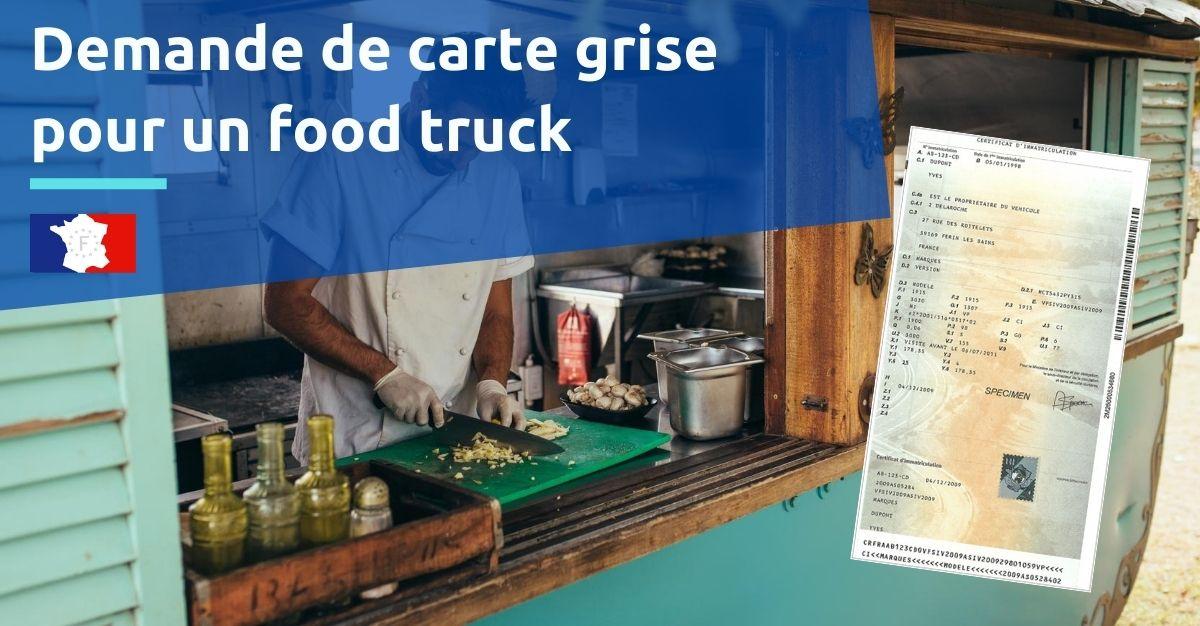 carte grise pour un food truck