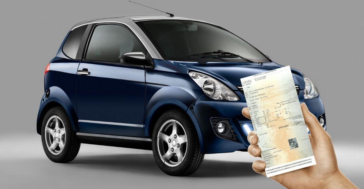 Carte grise voiture sans permis voiturette